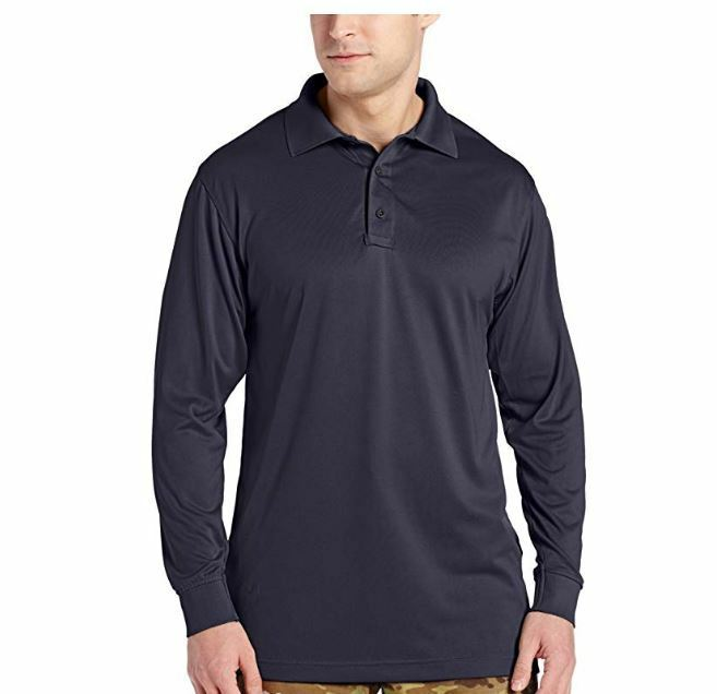TRU-SPEC Men's Performance 24-7 Polyester Long Sleeve Polo Shirt Charcoal Medium