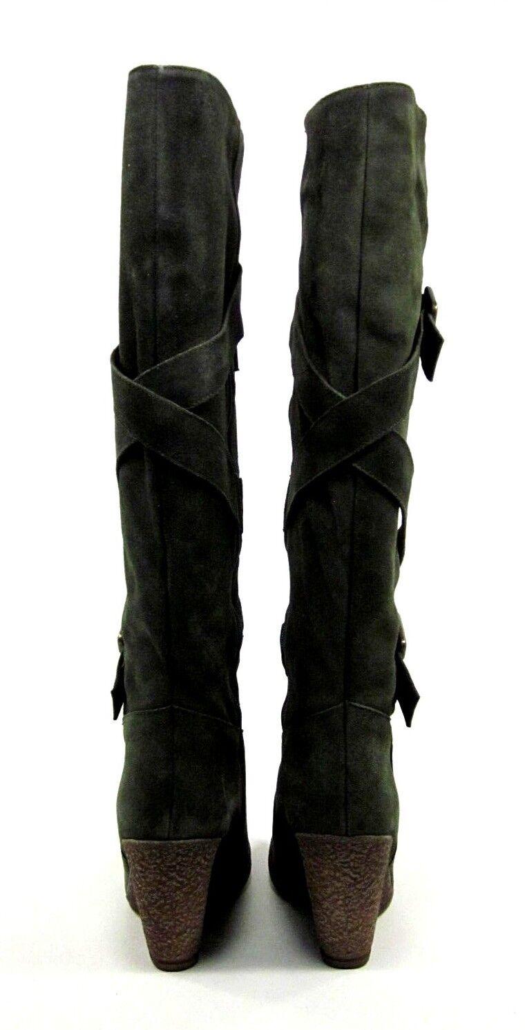 Zapatos de Nara Para Mujer Hasta la Rodilla de Alto Bota, Zagabria Caja de Rodilla Color caqui, EE. UU. 8 M, Nuevo Exhibido 998bc3