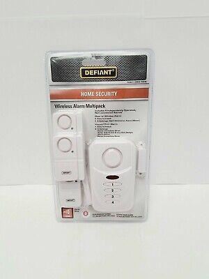 Defiant Wireless Home Security Door/Window Alarm Kit ...
