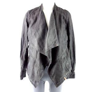 Khujo-Veste-Femme-Rack-TAILLE-S-XL-36-42-Gris-Coton-Lin-Blazer-Np-129-Neuf