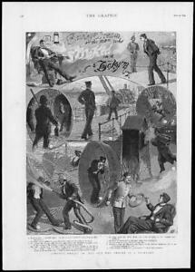 1893-Antique-Print-ILLUSTRATIONS-Rawleys-Dream-Smoking-Dockyard-Fireman-229