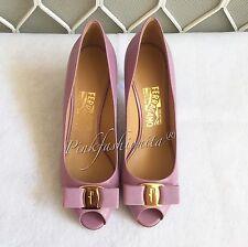Salvatore Ferragamo Pola Women's shoes Lilac Purple Pump Heel 7 cm size 7.5