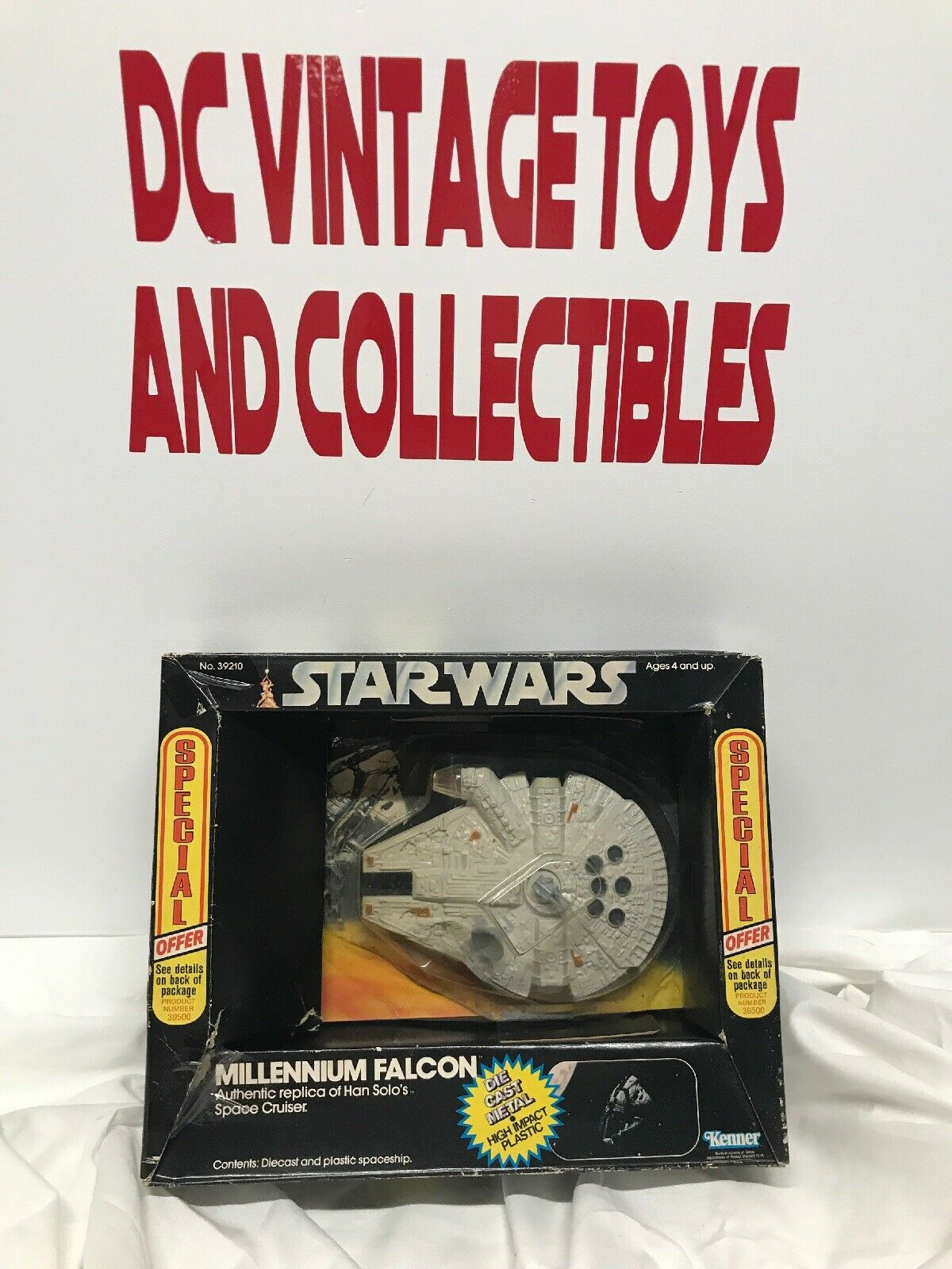 STAR WARS Millennium Falcon DIECAST DCA SPECIAL OFFER NM Vintage Kenner