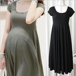 Summer Maternity Dresses Clothes For Pregnant Women Clothing O Neck Short Ebay