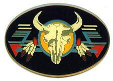 Longhorn Büffel Buffalo Skull Emblem 6,5 x 4,5cm selbstklebend Western Indianer
