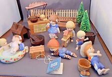 Huge Lot of Vintage ENESCO COUNTRY COUSINS FIGURINES AND ACCESSORIES Need Repair
