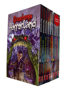 Goosebumps-Horror-Land-10-Book-Pack-R-L-Stein-Children-Spooky-Scary-Kids-NEW