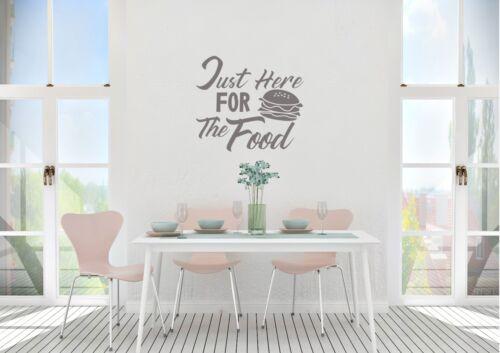 Juste ici pour la nourriture Style Cuisine Wall Art Decal Vinyl Sticker