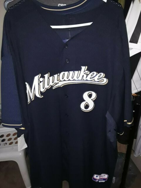hot sale online 31f2c bb733 brand new Milwaukee Brewers #8 Ryan Braun Baseball Jersey - size 60 (4XL)