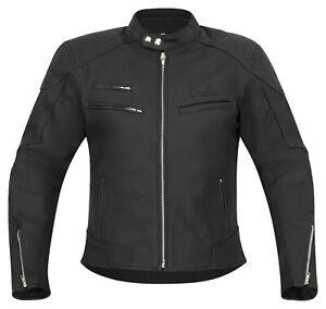 Klassik Lederjacke hochwertige Chopper Motorradjacke schwarz matt Gr. M bis 4XL