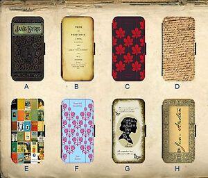 Jane-Austen-Orgueil-Prejuges-Eyre-Vintage-Roman-Etui-Cuir-Telephone-Rabattable