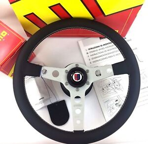 Genuine-Momo-Prototipo-steering-wheel-and-hub-boss-kit-For-BMW-Alpina-with-horn