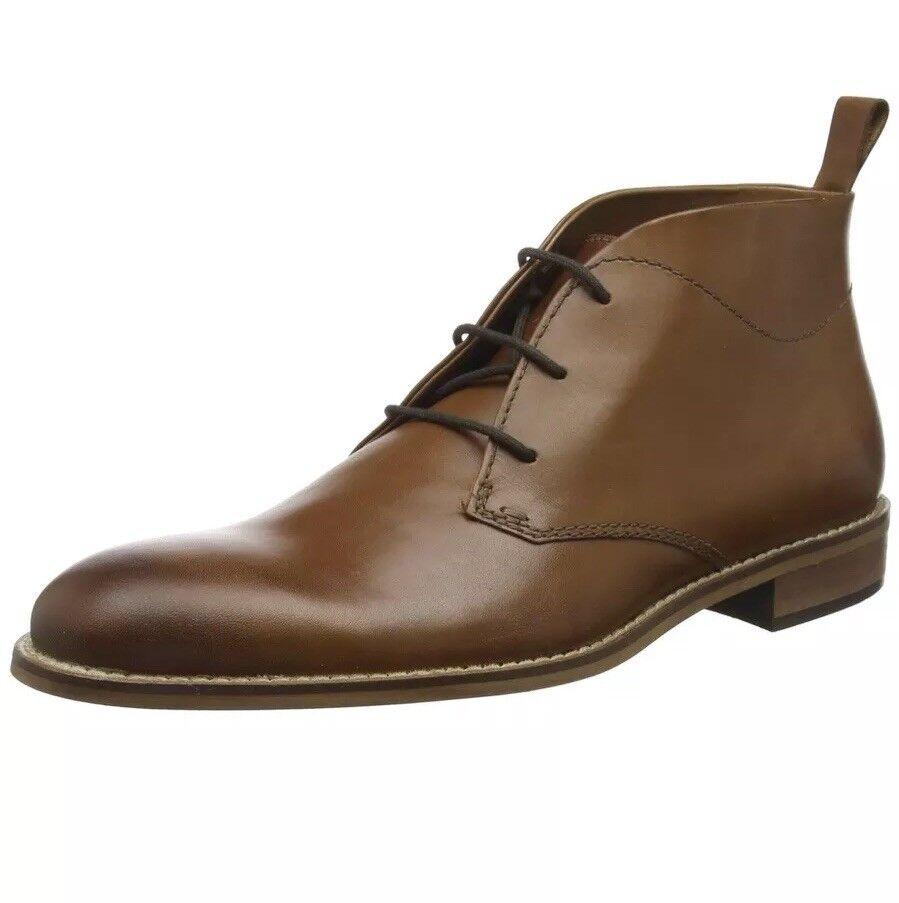 Dune Men's Messi Chukka Boots Tan Leather Size UK 8
