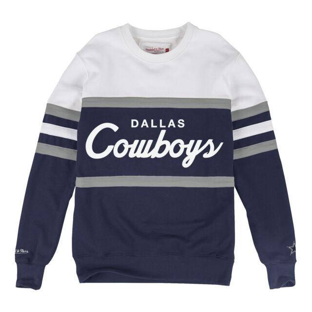 super popular 59a7a fe1bb Dallas Cowboys Mitchell & Ness Head Coach Crew Neck Sweatshirt L