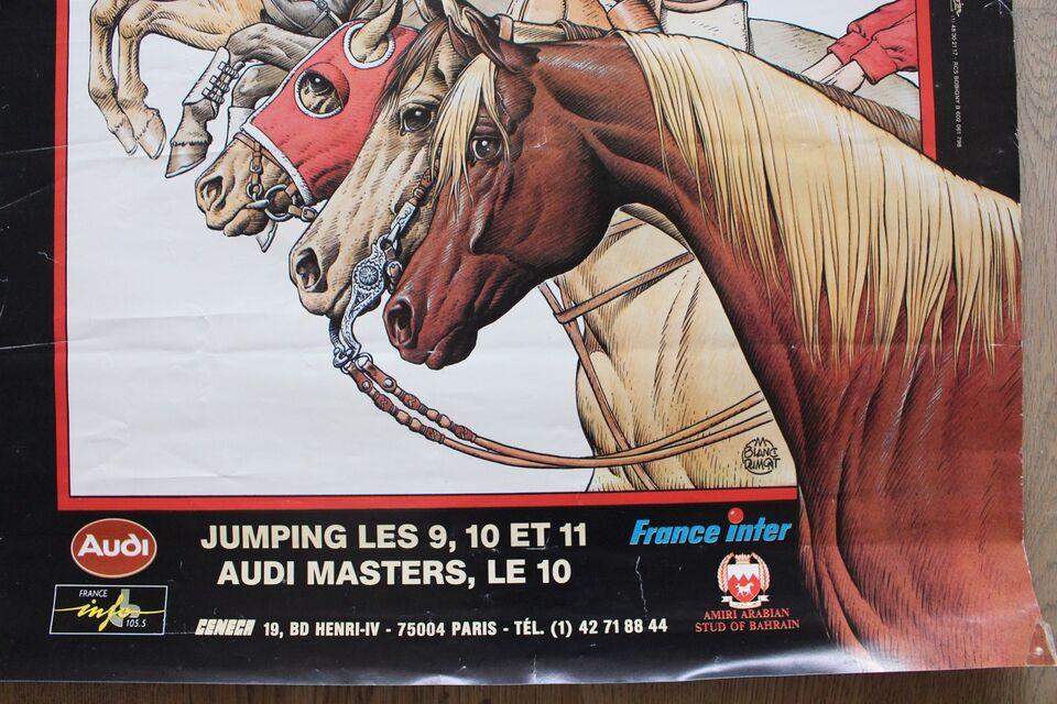 plakat, vedik, motiv: hestevæddeløb