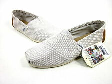 TOMS, CLASSICS, LIGHT GREY WEAVE, MENS, GREY CANVAS, US 9M, EURO 42, NEW IN BOX