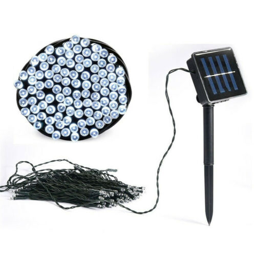Details about  /Solar Powered 100 200 500 LED String Fairy Tree Light Outdoor Wedding Party Xmas
