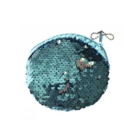 Girls Wallet Paillette Coin Bag Zipper Handbags Children Fashion Acces Gifts