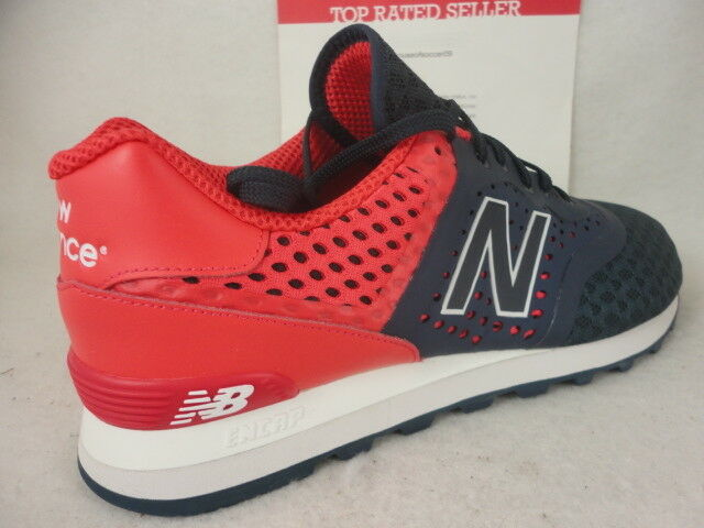 New Balance 574, MTL574CC, Navy bluee   Red, Synthetic, Re-Engineered, Size 12