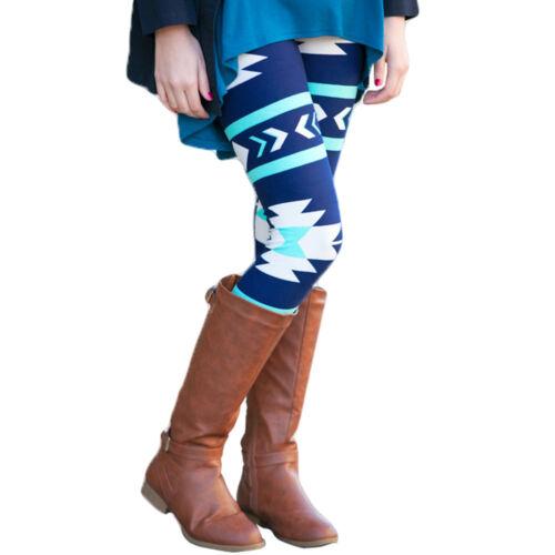 Fashion Women Skinny Leggings Printed Slim Stretchy Long Leggings Pencil Pants L