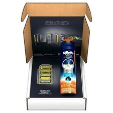 Gillette Fusion Pro-Shield Razor Blade Refills Plus Pro-Glide Sensitive Cream