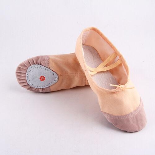 Erwachsene Mädchen Kinder Segeltuch Ballett Tanz Schuhe Ballett Schuhe Grö:22-40