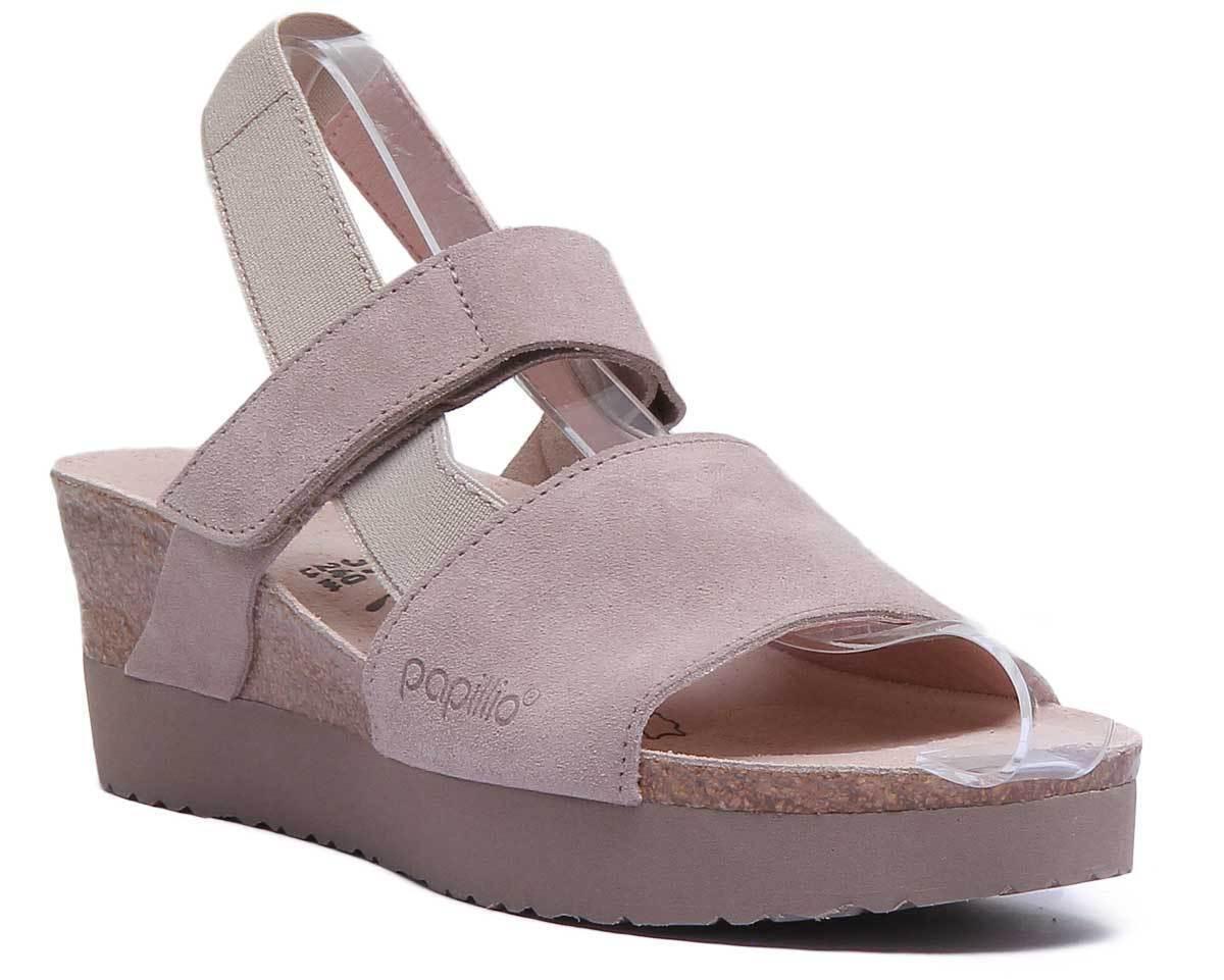 Papillio Linda Vl mujer Taupe Suede Leather Sandal UK Talla 3 - 8