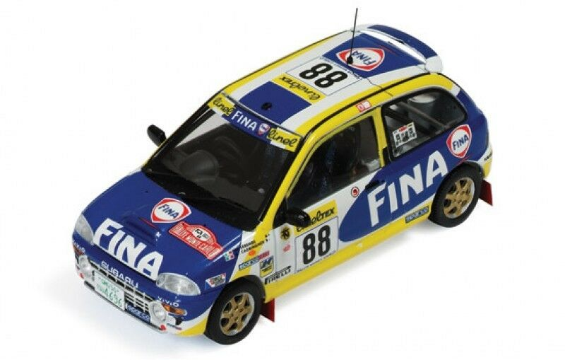 1 43 SUBARU Vivio RX-R FINA RALLYE MONTE CARLO 1999  88 G. Cadringher