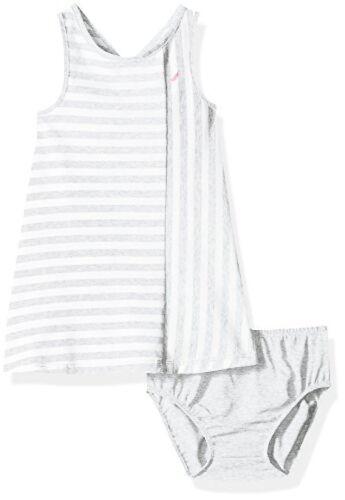 Nautica Childrens Apparel Baby Girls Stripe Criss Cross Back Knit Dress