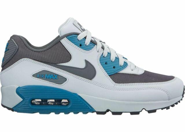 new style 1d260 19a03 Mens Nike Air Max 90 Essential Sneakers New Pure Platinum   Aqua Blue  537384-086