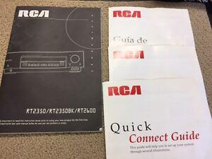 rca surround sound models rt2350 rt2350bk rt2600 user manual rh ebay com User Manual PDF Instruction Manual Book