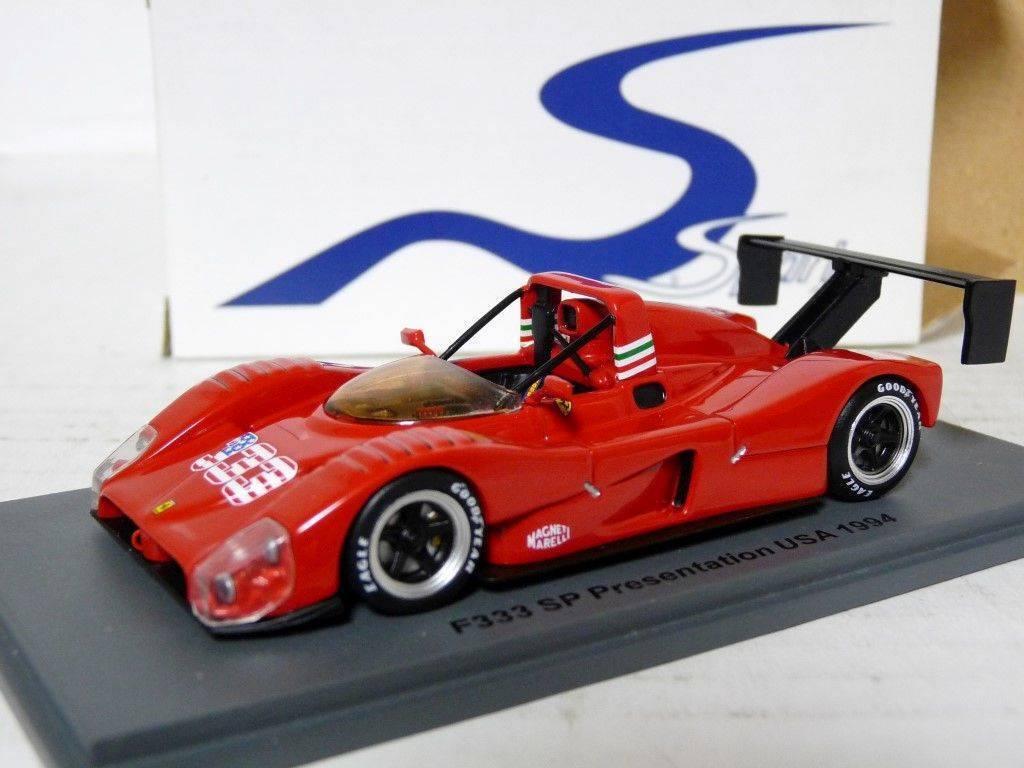 SPARK SCFI 01 1 43 1994 FERRARI F333 SP Présentation USA Résine Voiture Modèle