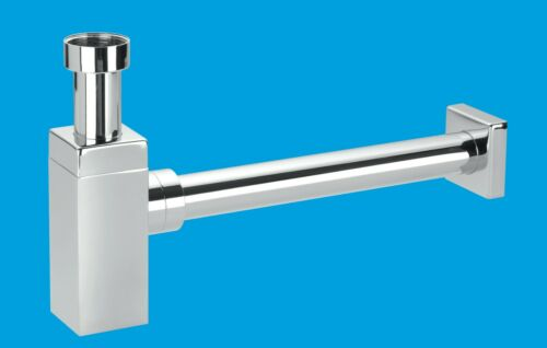 McAlpine Chrome Plated Basin Traps All Styles /& Shapes Pipe And Wall Flange