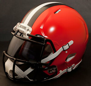 CUSTOM-CLEVELAND-BROWNS-NFL-Riddell-Revolution-SPEED-Football-Helmet
