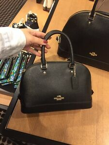 NEW-Coach-F27591-Mini-Sierra-Satchel-Handbag-295-black