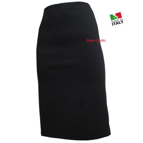 Gonna Tubino Donna Elegante Classica Spacchetto Dietro Nero 44 46 48 50 52 54