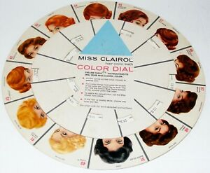 Vtg-1960-MISS-CLAIROL-Hair-Color-Dial-Mid-Century-Beauty-Shop-Moving-Dial-Poster
