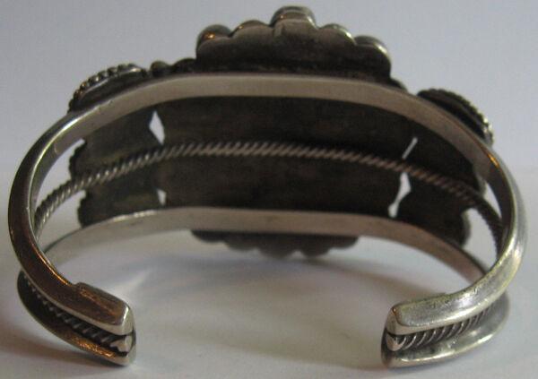 Splendido Largo Vintage Navajo Indiano argentoo argentoo argentoo Multi Turchese ae1869