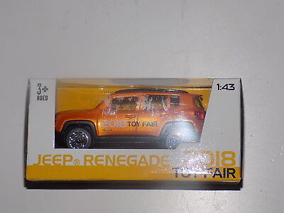 BURAGO MAISTO 1:43 SCALE JEEP RENEGADE 2018 TOY FAIR