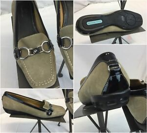 Cole-Haan-Air-Horse-Bit-Loafers-Sz-8-B-Women-Tan-Suede-Shoes-Mint-Cond-YGI-F8