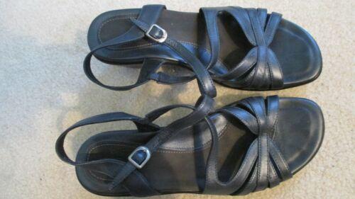 Dansko Strappy Sandal Heel 38 7 Blue Dressy