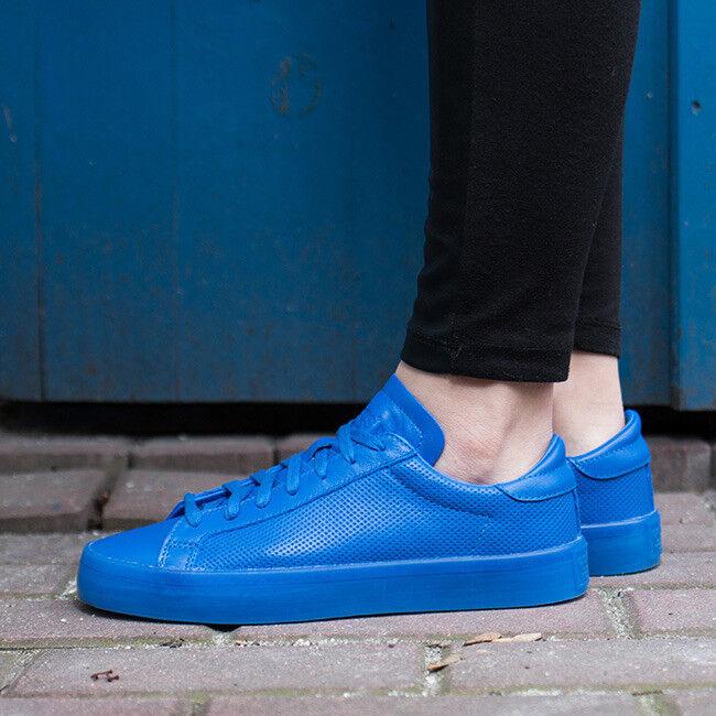 Adidas Corte Vantage Adicolor Hombre Entrenadores De Cuero S80252 Zapatos  de Skate S80252 Cuero Azul afb09c