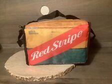 Red Stripe Beer Bungee Cooler Orange Red Green Jamaica New Holds 12 Bottle