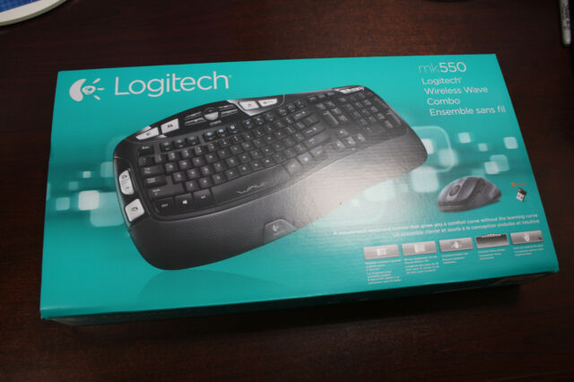 a479a00e9d4 Logitech Wireless Wave Combo MK550 Keyboard K350 Laser Mouse M510 Unifying  NEW !