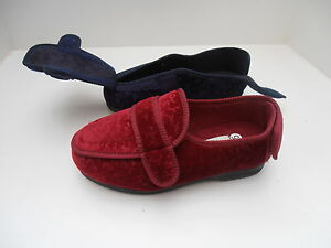 Ladies Slippers Extra Large Wide Fit Swollen Feet Diabetic