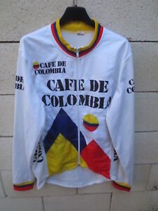 fe44986344c Image is loading Cycling-jacket-cafe-de-Colombia-1987-jacket-giacca-