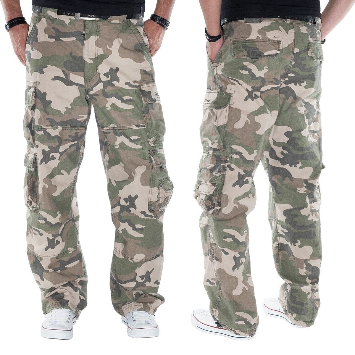JET LAG weite Cargohose Modell 007 in camouflage - fällt lang aus