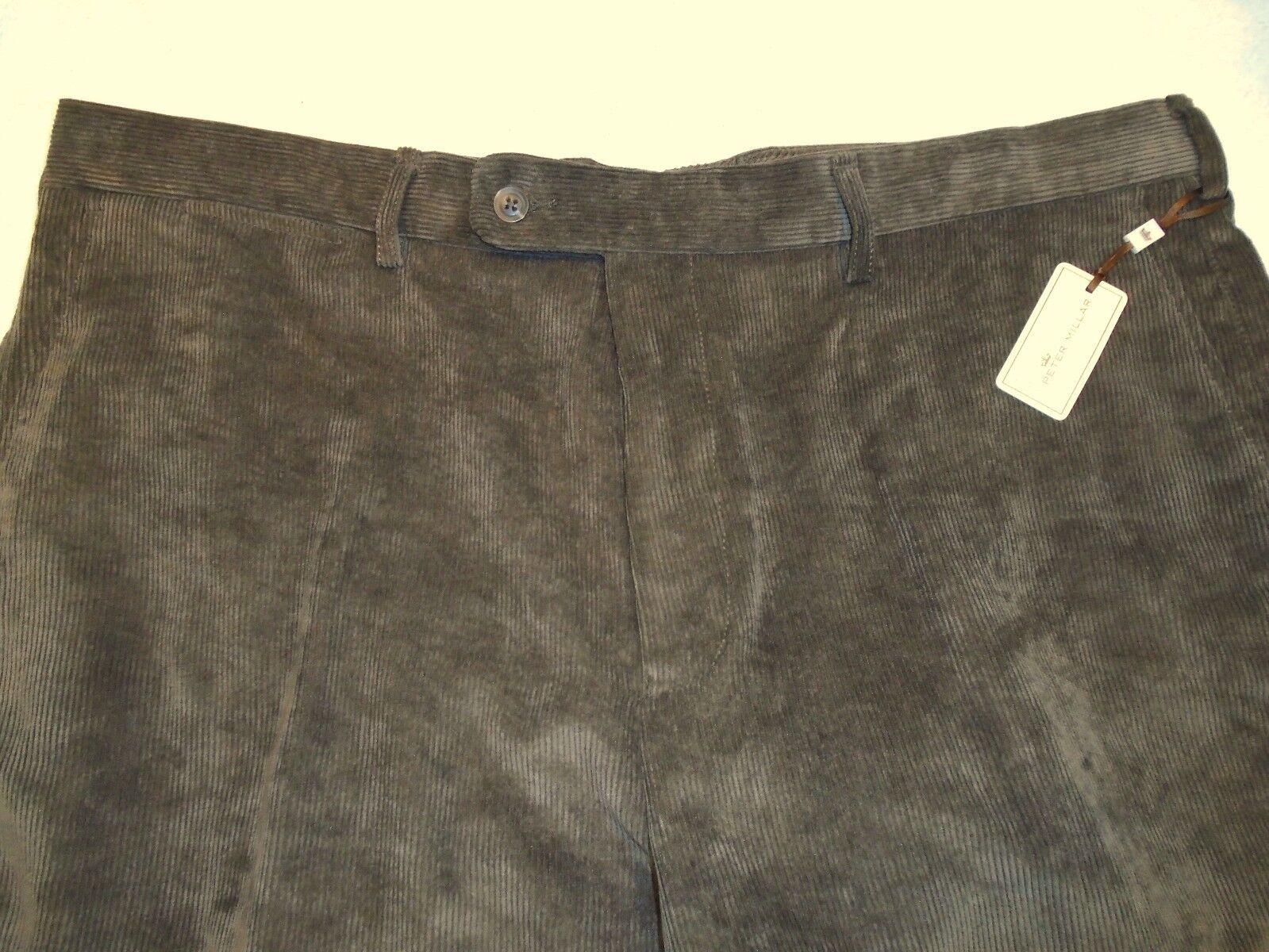 Peter Millar Nanoluxe  Corduroy Pants NWT  36 x 36 Brown