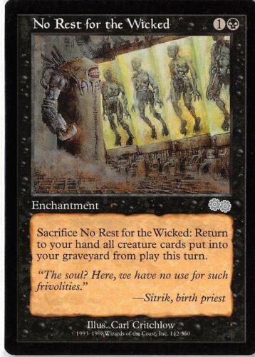 No Rest for the Wicked *Uncommon* Magic MtG x1 Urza/'s Saga SP