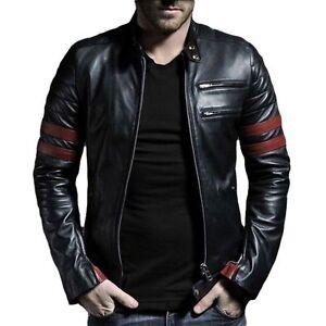 Fight Club Pitt Giacca Mayhem Brad motociclista da Retro Hybrid nera rrdwp1